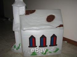Empire Church Chapel Blow Mold Christmas Decor Vintage/rare