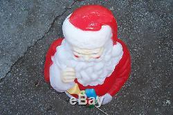Empire Plastic Blowmold 40 Light Up Christmas Santa Claus Outdoor Yard Decor
