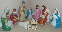 Empire TRI GFP Vintage Blow Mold Nativity Set Large Outdoor Christmas Lightups