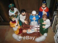 Empire Vintage Blow Mold Nativity Set, 10 Piece Indoor, Outdoor. 23 TALL