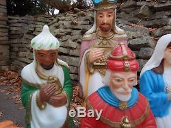 Empire Vintage Blow Mold Nativity Set 11 Piece Large Light Up Outdoor Christmas