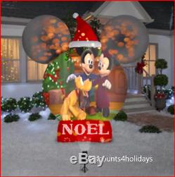 Exclusive New Gemmy Disney Mickey Ears Living Projection Christmas Yard Airblown