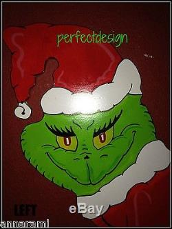 FREE MAX! GRINCH Stealing the CHRISTMAS Lights Lawn Yard Art Decoration LEFT