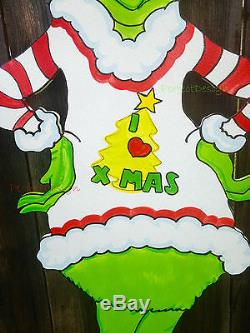 FREE MAX! GRINCH Ugly Christmas Sweater Holiday Cheermeister Yard Art Decoration