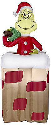 Gemmy Industries Christmas Decoration, Inflatable Grinch, 6-ft. 30949