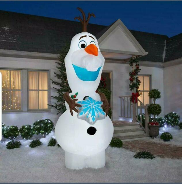 Giant 11' Olaf The Snowman From Frozen Airblown Lighted Yard Inflatable Disney