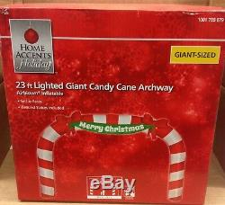 GIANT 23' FOOT MERRY CHRISTMAS CANDY CANE ARCHWAY Airblown Inflatable Yard Decor