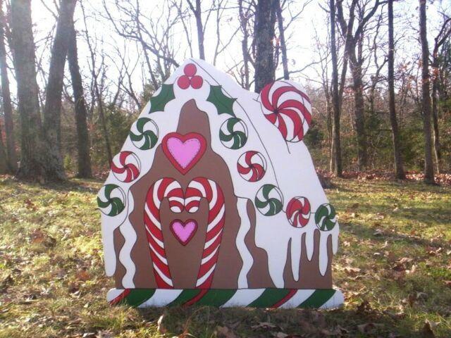 Gingerbread House 1 Pc. Christmas Yard Art Decoration