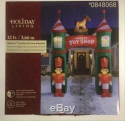 Gemmy 12 Santas Toy Shop Christmas inflatable