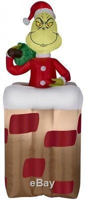Gemmy 5.51-ft x 2.43-ft Animatronic Lighted Grinch Christmas Inflatable