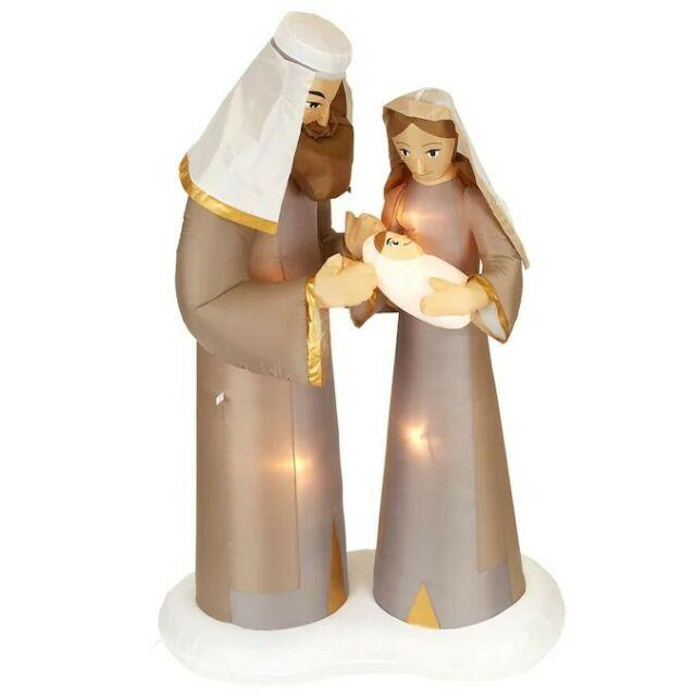 Gemmy 6.5' Tall Airblown Inflatable Christmas Nativity Scene Outdoor Decoration