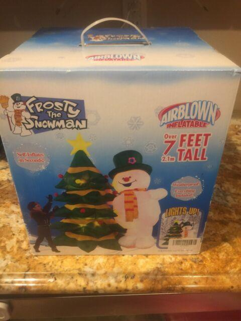 Gemmy 8ft Frosty The Snowman Airblown Inflatable New In Box 2004 Christmas