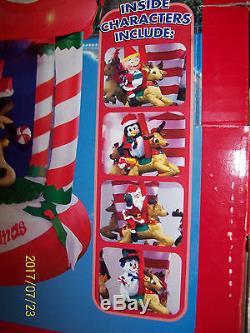 Gemmy Airblown Christmas Inflatable 8ft Musical Carousel Rare! (spins) NIB