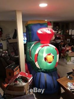 Gemmy Airblown Christmas Inflatable Train Snowglobe Rare Htf Very Cool