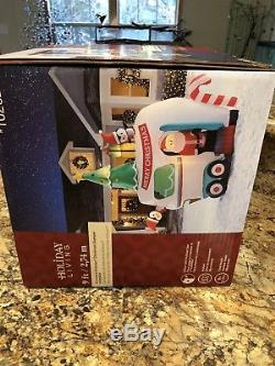 Gemmy Airblown Inflatable 9 Ft Santa Camper Glamper RV Animated Christmas NEW