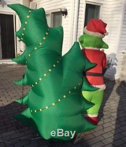 gemmy airblown inflatable blow up grinch christmas tree max