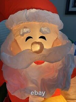 Gemmy Airblown Inflatable Prototype Santa Photo Opportunity Lap Cry Scene