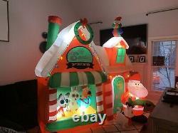 Gemmy Airblown Inflatable Santas Pet Shop Scene Christmas Yard Decoration Huge
