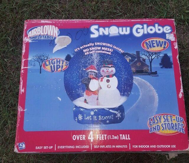 Gemmy Airblown Inflatable Snow Globe Let It Snow 4 Foot Tall