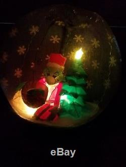 Gemmy Airblown inflatable Christmas Grinch snow globe rare