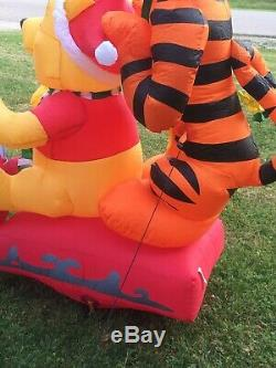 Gemmy Christmas Airblown Inflatable 8 L Disney Winnie The Pooh Sled Scene