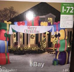 Gemmy Christmas Airblown Inflatable Archway Gifts with banner 16FT Wide NEW