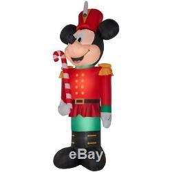 Gemmy Christmas Airblown Inflatable Disney Mickey Mouse Nutcracker 14.5 Ft tall
