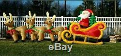 Gemmy Colossal 16' Long Christmas Sleigh Airblown Inflatable Yard Decor
