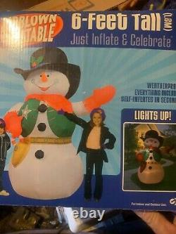 Gemmy Cowboy Sherif 6 Ft Inflatable Rare New 2004