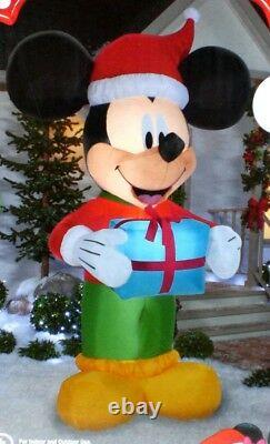 Gemmy Disney 9 Foot Tall Lighted MICKEY MOUSE Christmas Inflatable Airblown