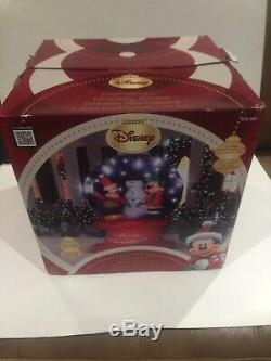 Gemmy Disney Holiday Globe Inflatable 6ft Lightshow Mickey Minnie Mouse