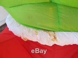 Gemmy Giant 8' Inflatable Grinch Stole Christmas & Max Yard Decoration In Box