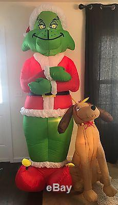 Gemmy Grinch & Max 8 Foot Christmas Airblown Inflatable 2004 in Box Retired