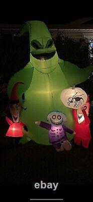 Gemmy Halloween Inflatable 7' Oogie Boogie Nightmare Before Christmas