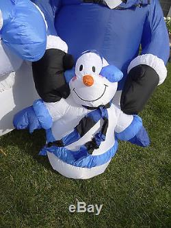 Gemmy Inflatable Airblown Christmas Snowman Family Mom Dad Kid Children Blow Up