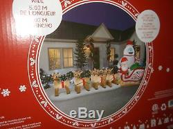 Gemmy Lighted Rudolph BUMBLE Christmas Airblown Inflatable Santa Lawn Decor