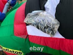 Gemmy Santa Airblown Inflatable Race Car Nascar Christmas 8 Foot