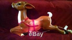 General Foam 35 Reindeer Lighted Blow Mold, New