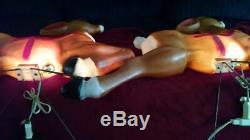 General Foam 35 Reindeer Lighted Blow Mold, Used (Set of 2)