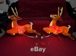 General Foam 35 Reindeer Lighted Blow Mold, Yard Decor, New (Set of 2) One Pair