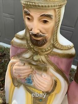 General Foam Christmas Nativity 4 Wisemen Kings Blow Mold Molds USA Joseph