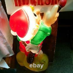 General Foam Plastic Blow Mold Light Up 34 Elf Painting Santa's Workshop Sign