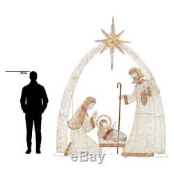 Giant 120 in. 440-Light LED Giant Nativity Scene Christmas Outdoor Decor