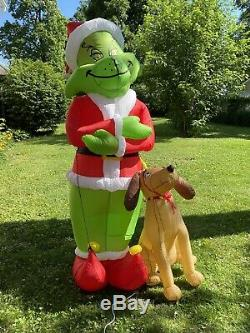 Giant 8' Airblown Inflatable Grinch with Max Gemmy GUC Dr. Seuss