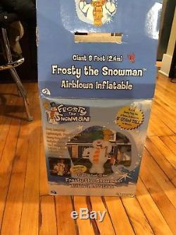 Giant 8 Ft Frosty The Snowman Airblown Inflatable Gemmy Rare Htf