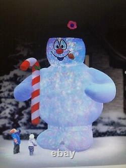 Giant Frosty The Snowman 18 Ft INFLATABLE LIGHT SHOW, Excellant Used Condition