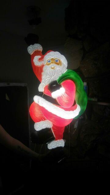 Grand Venture 37 Climbing Santa Lighted Christmas Blow Mold