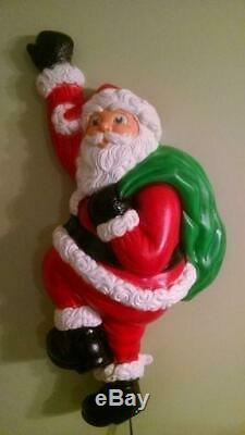 Grand Venture 37 Climbing Santa Lighted Christmas Blow Mold, New