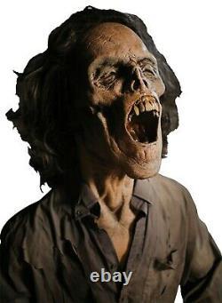Grim Lifesize Animatronic Dead Zombie Horror Haunted HOUSE Prop +FREE STEP PAD