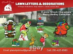 Grinch Holiday Lawn Decor set (Vivid Colors) weather proof